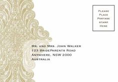 Isabella Lace Reply Card in Gold Fusion - DreamDay Invitations