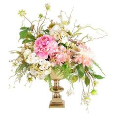 """Check out this item at One Kings Lane! 30"""" Peony Arrangement in Planter, Faux"""