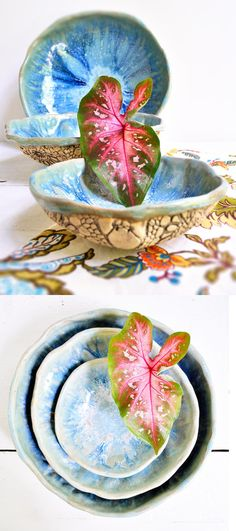 Urban Rustic nesting bowl set from Lee Wolfe Pottery