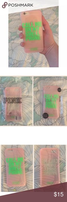 NIP PINK hard shell iPhone 6/6s case in brand new condition. fits iPhone 6/6s. comes from a smoke free, pet friendly home. NO TRADES! I do have a cat, so I will lint roll the item before I send it to you! PINK Victoria's Secret Accessories Phone Cases