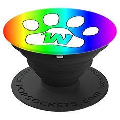 Monogram W Initial PopSocket Grip LGBT Paw Dog Cat Lover #cuteanimals #cute #cutepopsocket #popsocket #initialpopsocket