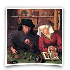 """The Moneylender and his Wife"" / 1514 / Quentin Massys / Musée du Louvre, Paris Hans Baldung Grien, People Reading, Reading Time, Renaissance Kunst, Renaissance Paintings, Louvre Paris, Classic Paintings, Art Paintings, Mirror Image"