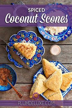 Filled with shards of toasted coconut, laced with fragrant coconut extract, and drizzled with a sweet coconut nutmeg glaze, this coconut scone recipe is a hit! Coconut Scones Recipe, Coconut Tea, Coconut Desserts, Toasted Coconut, Appetizer Recipes, Soup Recipes, Brunch Recipes, Sweetened Whipped Cream, Cocoa Nibs