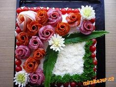 Sandwich Cake, Sandwiches, Good Food, Yummy Food, Flower Food, Food Decoration, Russian Recipes, Appetisers, Creative Food