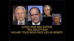 """Hillary And DNC Busted! Caught Lying In Debate! Judge And NSA """"The Big D..."""