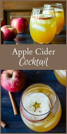 This apple cider cocktail is perfect for entertaining in the fall, with the fresh taste of apples and cinnamon, that will warm you down to your toes. #cocktails #applecider #entertaining