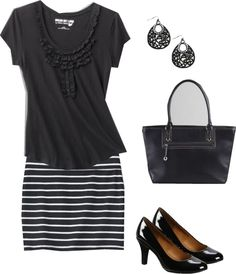 """""""Casual Black"""" by kp802 ❤ liked on Polyvore"""