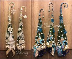 www.tulivirag.hu Winter Christmas, Xmas, Christmas Tree, Diy And Crafts, Drop Earrings, Deco, Miniatures, Teal Christmas Tree, Christmas