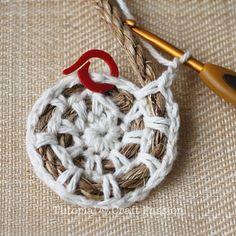 basket Crochet on rope instructions.
