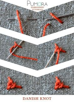 Pumora's lexicon of embroidery stitches: the danish knot