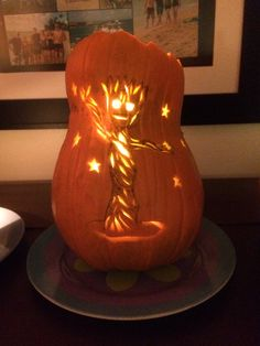 This is my pumpkin for the year! Baby groot!