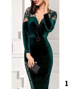 Precioso outfit, elegante, y magnífico para ir guapísima a una ceremonia de ta. Lovely Dresses, Elegant Dresses, Sexy Dresses, Casual Dresses, Short Dresses, Fashion Dresses, Prom Dresses, Formal Dresses, Fashion Fashion