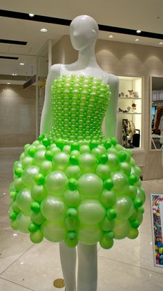 "https://flic.kr/p/bvSeSh | Green ""Round short dress"" at Takashimaya"