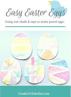Wet Chalk Easter Eggs