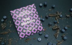 Unique combination of raw chocolate and wild blueberries gathered from the Finnish wilderness. Organic Chocolate, Raw Chocolate, Helsinki, Blueberry Powder, Cacao Beans, Wild Blueberries, Raw Cacao, Healthy Treats, Coconut Flakes