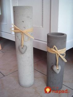 Beton Kerzenhalter anthrazit Handarbeit - I think with some PVC pipe cut to make a release for the outstide & and thinner pipe for the inside - these can be DIY Concrete Furniture, Concrete Crafts, Concrete Garden, Concrete Projects, Concrete Planters, Diy Projects, Beton Design, Concrete Design, Concrete Candle Holders