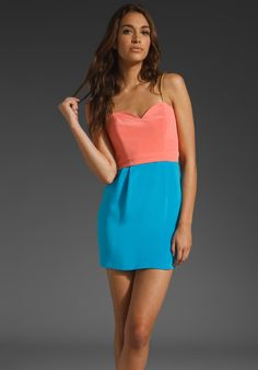 NAVEN 2 Tone Heartthrob Dress in Peach/Cali Blue at Revolve Clothing - Free Shipping!