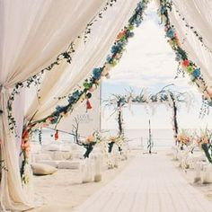 Take a look at the best boho beach wedding in the photos below and get ideas for your wedding! Boho beach wedding lantern release at sunset Image source Nothing like walking down this ethereal aisle. Wedding Destination, Boho Beach Wedding, Beach Wedding Reception, Beach Wedding Inspiration, Beach Wedding Decorations, Wedding Tips, Wedding Venues, Wedding Planning, Dream Wedding