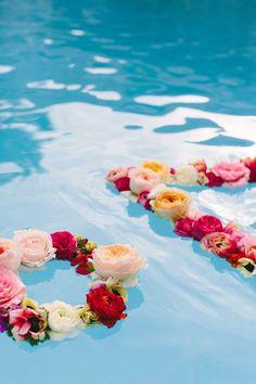 geometric floating flower wreaths