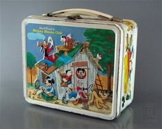 Walt Disney Mickey Mouse Club - Metal Lunch Box - 1967