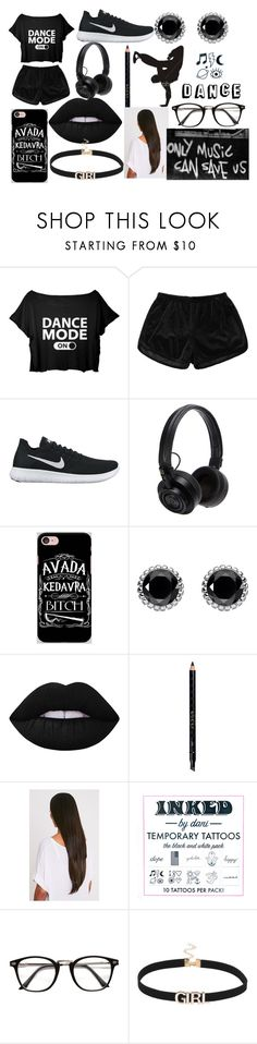 """Dance"" by weirdothatloveshp ❤ liked on Polyvore featuring NIKE, Master & Dynamic, Samsung, Thomas Sabo, Lime Crime, Gucci, Freeze and Inked by Dani"