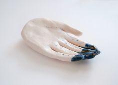 blue tipped fingers by kaye blegvad, via Flickr