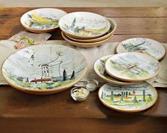 paysage dinnerware by artist Marc Lacaze.  I have everything in this set except the cheese platter.