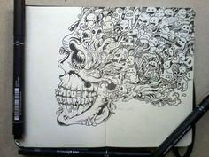 moleskine_doodles_page_1_by_kerbyrosanes-d61obmn