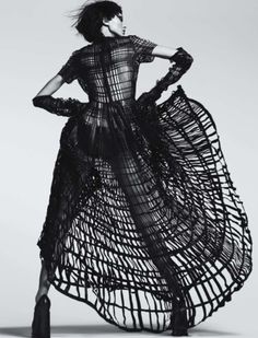 avant garde fashion | Tumblr fierce couture for halloween ball or party event , ariadne the spider web ball gown idea i'm going gothic edgy and a little scarey chic this year