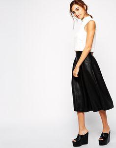 Bardot PU Midi Skirt