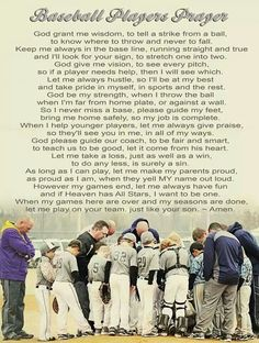 Baseball player prayer