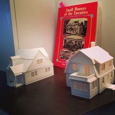 Houses printed using MakerBot's 3D printer at the MakerBot Store.