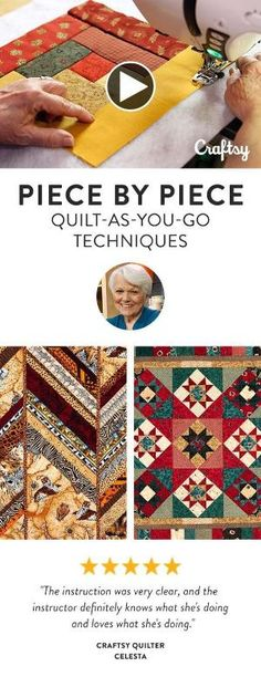 Quilter Marti Michell shows you how to adapt for quilting as you go, so you can recreate any style with ease. Learn how to prepare your foundation with batting and backing already incorporated, then dive into string quilting to quickly transform strips into dynamic blocks. by gena