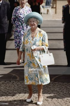 The Queen Mother (1900 - 2002) on the occasion of her 92md birthday, at Clarence House, in London, England, Great Britain, 4 August 1992.