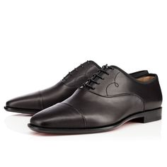 OLYMPIO CALF,BLACK,Calf,Men Shoes,Louboutin.