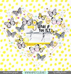 Design Team layout for Hip Kit Club, using the April 2016 Hip Kit & Add-On Kits. Scrapbook Paper Crafts, Scrapbook Pages, What If You Fly, Hip Kit Club, H Design, Silhouette America, Crate Paper, White Butterfly, Studio Calico