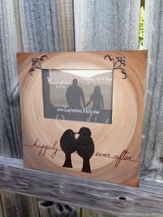 """Bird Silhouettes in the Moonlight Picture Frame, """"Happily Ever After"""" by ImpressionsByMisty, $65.00"""
