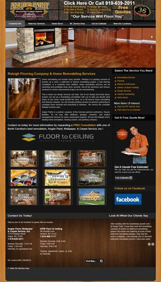 Here's a wonderful site design that was created for Angier Paint & Flooring