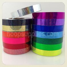 150 FT Sequin Deco Hula Hoop Tape by hoopsupplies on Etsy, $15.50