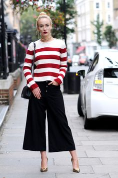 The best street style looks from LFW Day 2, from JW Anderson print to Alexa Chung's 60s detail.