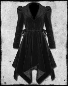 Black Velvet  Maven coat from Spin Doctor.  Love the Puffed Sleeve.