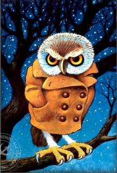 owl in orange coat by Lorenzo Alessandri (1989)