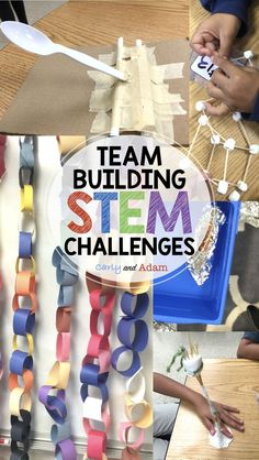 Team Building STEM Activities are excellent for the beginning of the school year. These activities are perfect for building teamwork and community during the first few weeks of school!