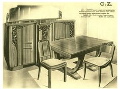 "Document Old furniture ""Plank Buffet GZ 463 Walnut Carved"" P19 | eBay"