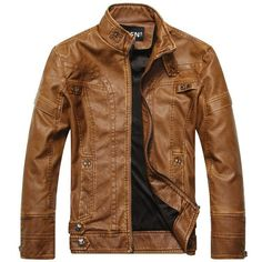 Aeronautical Leather Jacket - Light Brown