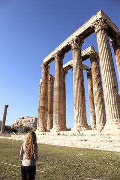 Temple of Olympian Zeus Athens Girl