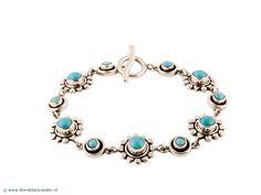 Zilveren Armband - Mexicaanse zilveren armband met turkoois