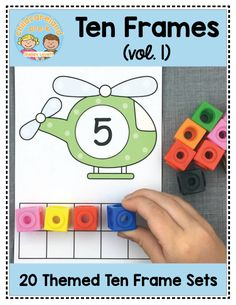 ten frames early math for preschool and kindergarten Preschool Learning, Kindergarten Math, Learning Time, Math Games, Preschool Activities, Preschool Lessons, Maths, Transportation Theme, Transportation Worksheet