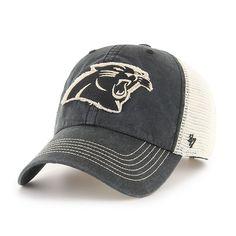 752dfb00fc3 Carolina Panthers Springfield Clean Up Vintage Black 47 Brand Adjustable Hat