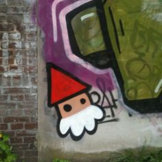 """""""De Utrechtse Kabouter"""" gnome-grafitti specific to the city of Utrecht, the Netherlands"""
